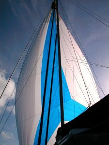 Flying the spinnaker...