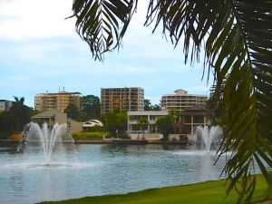 They put fountains in the marina to keep the water aerated......