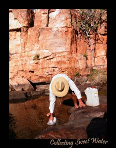 Collecting fresh water..